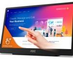 """AOC lancia 16T2, un display portatile da 15.6"""" con riconoscimento tattile"""