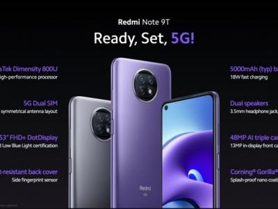 Xiaomi presenta Redmi Note 9T:  il futuro in 5G
