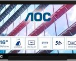 """AOC I1601P, il monitor portatile 15.6"""" con connessione USB-C ibrida e USB-A"""