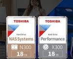 Toshiba aumenta a 18TB la capacità di archiviazione degli hard disk N300 e X300